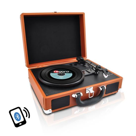 PYLE-HOME PVTTBT6BR TURNTABLE- SUITCASE B.T,  PC ENCODING