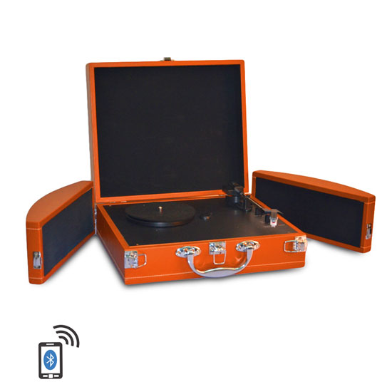 PYLE-HOME PVTTBT8OR TURNTABLE- SUITCASE B.T,  PC ENCODING