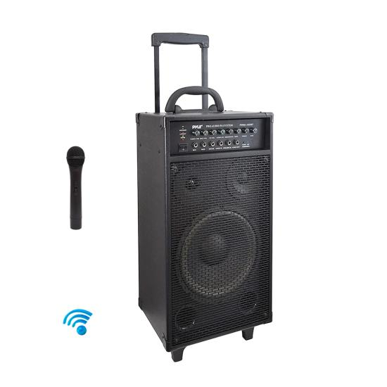 Pyle PWMA1050BT 800w Wireless Bluetooth Powered Portable Pa System Ipod MP3 Inpu