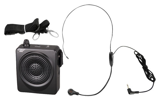 Pyle Rechargeable Portable Wireless Mobile PA System Speaker Headset Microphone