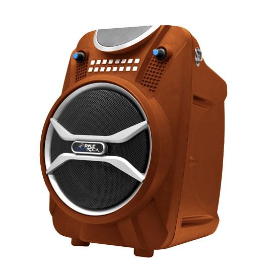 Pyle PWMAB210OR 200W Bluetooth Portable Speaker & Recorder w/ Wireless Mic