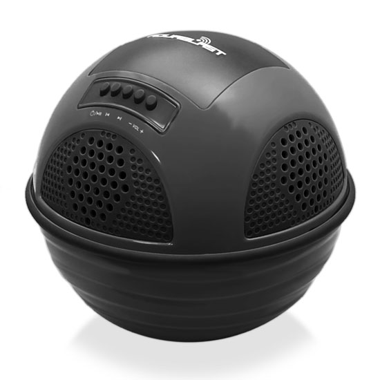 Pylehome PWR90DBK Aqua Blast Bluetooth Floating Pool Speaker System Black OUTER BOX WATER DAMAGED