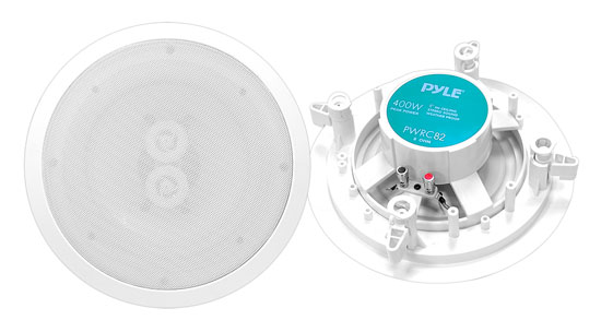 Pyle-Home PWRC82 8'' In-Ceiling (Dual Channel/ Voice Coil) Weather Proof Speaker