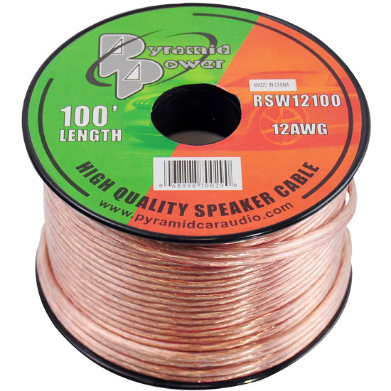Pyramid RSW12100 12 Gauge 100 ft. Spool of High Quality Speaker Zip Wire