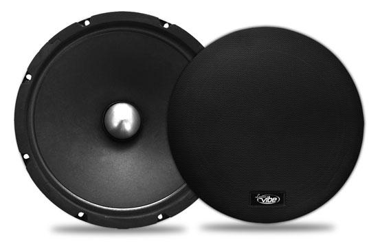 Lanzar VSMR8 Vibe Bullet Series Lanzar 600-Watt 8-Inch Mid-Range Speaker