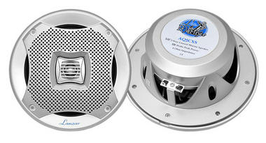 "Lanzar WaterProof Outdoor Boat Patio Marine 5.25"" In Wall Cabin Speakers Thumbnail 1"