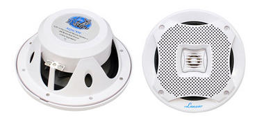 "Lanzar WaterProof Outdoor Boat Patio Marine 5.25"" In Wall Cabin Deck Speakers Thumbnail 1"