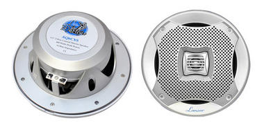 "Lanzar AQ6CXS WaterProof 400W 6.5"" Inch 2 Way Marine Boat In Wall Cabin Speakers Thumbnail 1"