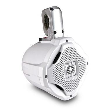 "Lanzar WaterProof Monster 500w Marine White Boat Wakeboard Tower Speaker 6.5"" Thumbnail 1"