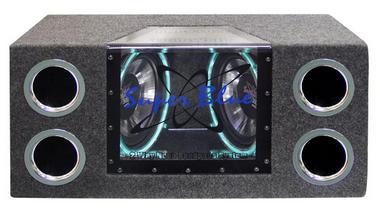 "Pyramid BNPS102 Neon Dual 10"" Bandpass Car Subwoofer Sub Bass Box System Thumbnail 1"