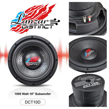 "Lanzar Distinct DVC 4 Ohm 10"" 1000w Compact Car Subwoofer Sub Woofer Bass Driver Thumbnail 3"