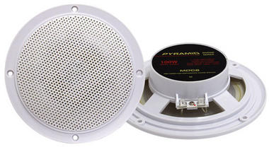 "Pyramid MDC6 5.25"" Marine 100w Dual Cone WaterProof Boat Patio Stereo Speakers Thumbnail 1"