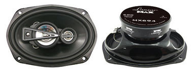 "Lanzar MAX 6x9"" Inch Oval 680w Coaxial Four Way Pair Of Car Door Shelf Speakers Thumbnail 1"