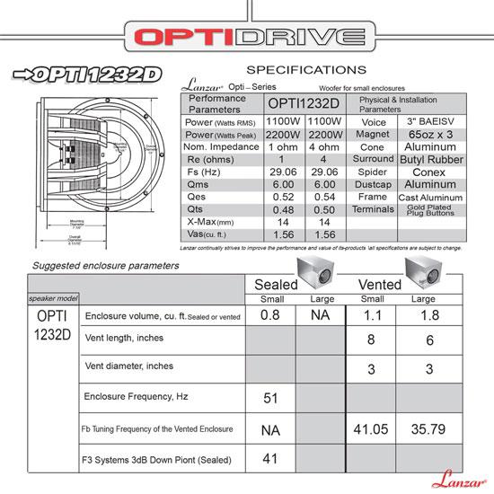 "Lanzar Opti 12"" 2200w DVC Dual 2 OHM Competition Car Audio Subwoofer SPL Sub Thumbnail 3"