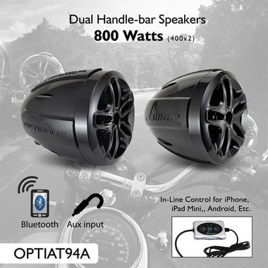 Lanzar OPTIAT94A Opti-Drive Weatherproof Dual Bluetooth Speaker System Thumbnail 3