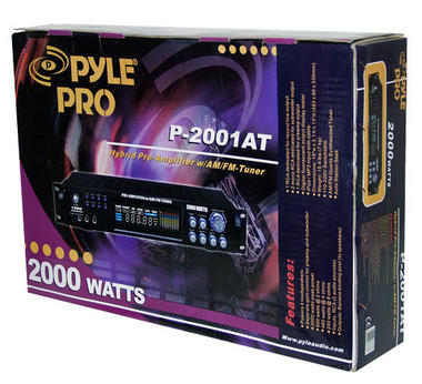 Pyle P2001AT 2000W Hybrid Pre Amplifier with AM/FM Tuner Thumbnail 7