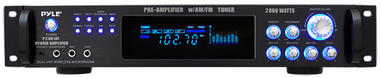 Pyle P2001AT 2000W Hybrid Pre Amplifier with AM/FM Tuner Thumbnail 1