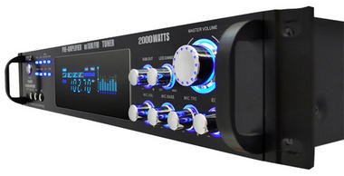 Pyle P2001AT 2000W Hybrid Pre Amplifier with AM/FM Tuner Thumbnail 3