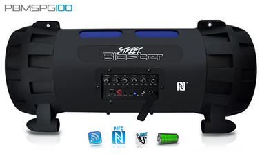 Pyle Street Blaster PBMSPG100 Rugged and Portable Bluetooth Wireless BoomBox Thumbnail 3