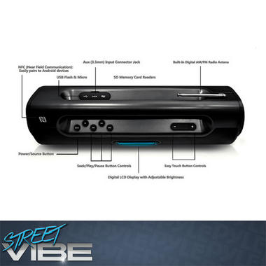 PYLE-HOME PBMSPG50 BLUETOOTH PORTABLE BOOM BOX SPEAKER SYST Thumbnail 4