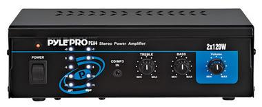 Pyle-Home PCA4 Mini 2x120 Watt Stereo Power Amplifier Thumbnail 1