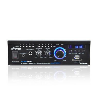 Pyle PCAU48BT 2 x 120W Bluetooth Stereo Power Amplifier USB/SD AUX & Remote Thumbnail 4