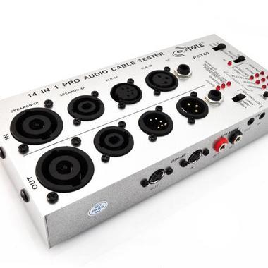 PYLE-PRO PCT60 13 in 1 Audio Cable Tester (1/4-Inch, 1/8-Inch, XLR, Speakon, RCA, RJ45, USB-A/B, TT, Bantam, DIN) Thumbnail 4