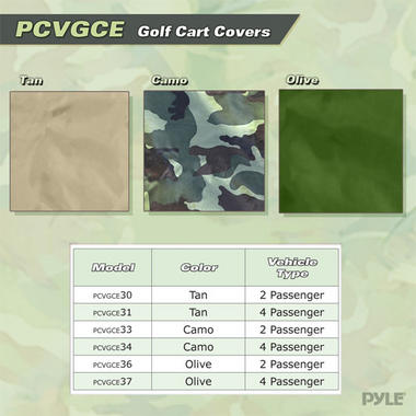 PYLE PCVGCE36 DELUXE 4-SIDE GOLF CART ENCLOSURE, 2 PAS Thumbnail 4
