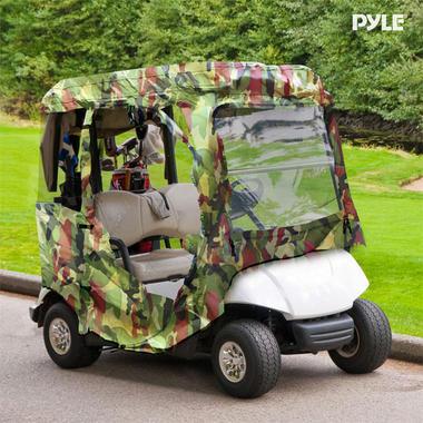 PYLE PCVGFYM71 YAMAHA DRIVE GOLF CART ENCLOSURE, CAMO Thumbnail 7