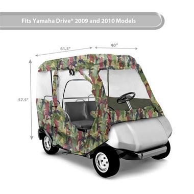 PYLE PCVGFYM71 YAMAHA DRIVE GOLF CART ENCLOSURE, CAMO Thumbnail 6