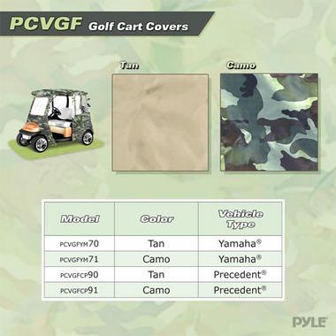 PYLE PCVGFYM71 YAMAHA DRIVE GOLF CART ENCLOSURE, CAMO Thumbnail 4