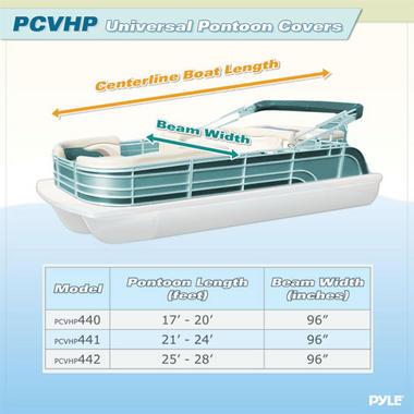 PYLE PCVHP442 25' - 28'L PONTOON BOATS, BEAM WIDTH UP Thumbnail 4