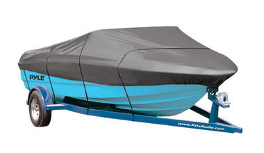 """PYLE PCVSPB331 BOAT COVER 14' - 16'LL BEAM WIDTH TO 90"""" Thumbnail 1"""