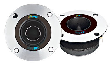 Pyle PDBT19 3.75'' Heavy Duty Titanium 4 Ohm Car Home Pro Audio 300w Tweeters Thumbnail 1