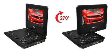 Pyle PDH7 7'' Portable TFT LCD Monitor w/ Built-In DVD Player MP3/MP4/USB SD Slot Thumbnail 4