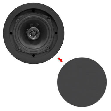 """Pyle Home PDIC51RDBK 5.25"""" 2-Way In-Ceiling In-Wall Built-In Speaker System Black Thumbnail 5"""