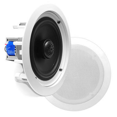 "Pyle PDIC60T 6.5"" 2-Way In-Ceiling In-Wall Speakers 70V Tap Tapping Transformer Thumbnail 1"