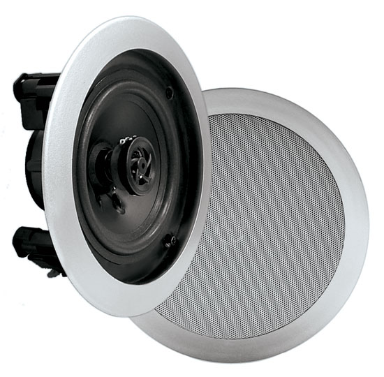 Pyle Home PDIC81RDSL 8-Inch 2-Way In-Ceiling Built-in Speaker System Silver Thumbnail 1