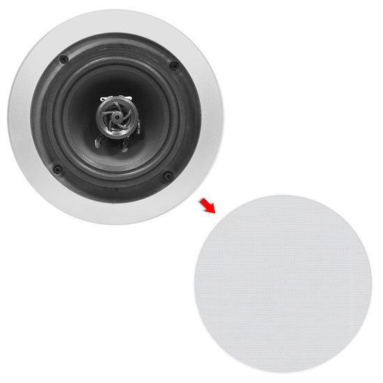 Pyle Home PDIC81RDSL 8-Inch 2-Way In-Ceiling Built-in Speaker System Silver Thumbnail 6