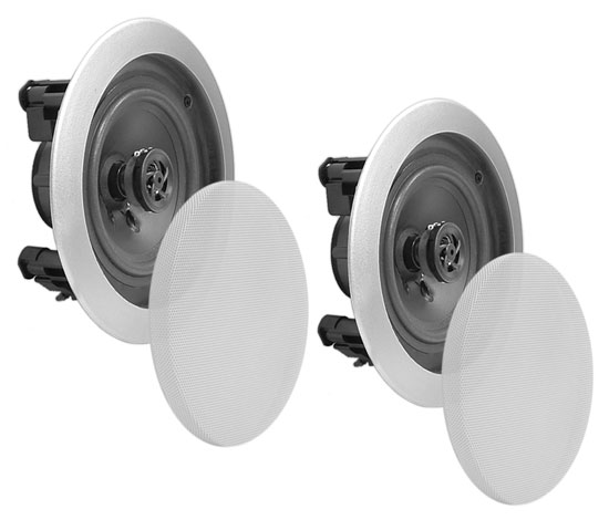 Pyle Home PDIC81RDSL 8-Inch 2-Way In-Ceiling Built-in Speaker System Silver Thumbnail 5