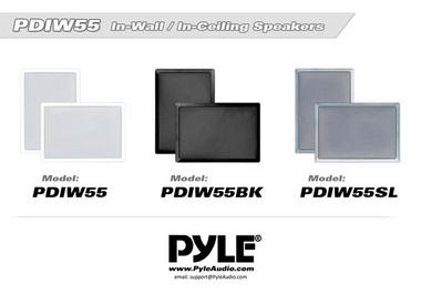 Pyle 2-Way 150 Watt Home Audio In-Wall Stereo Speaker System WHITE PDIW55 Thumbnail 5
