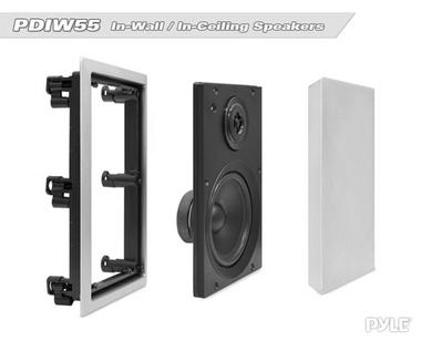 Pyle 2-Way 150 Watt Home Audio In-Wall Stereo Speaker System WHITE PDIW55 Thumbnail 4
