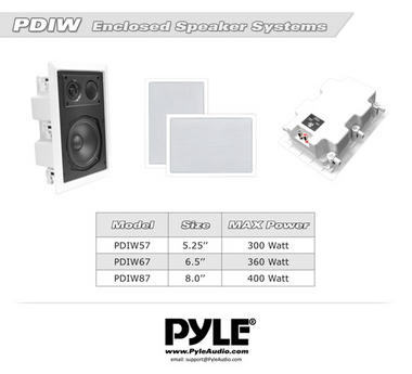 "Pyle-Home PDIW57 Pyle 5.25"" Back Enclosed 5.25"" Speakers Thumbnail 6"