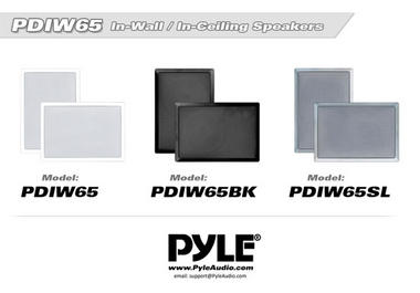 Pyle PDIW65 6.5'' Two-Way In-Wall Speaker System Pair White Ceiling Built-In Thumbnail 5