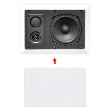 """Pyle-Home PDIW87 Pyle 8"""" Back Enclosed Inwall Speakers Thumbnail 3"""
