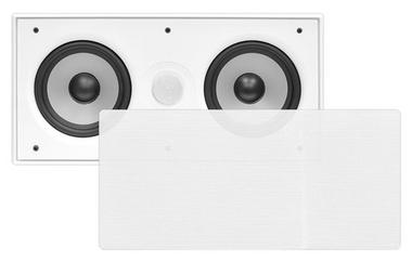 """In Wall Surround Sound Stereo Hi Fi Home Cinema Centre Speaker Twin 5.25"""" 8ohm Thumbnail 1"""
