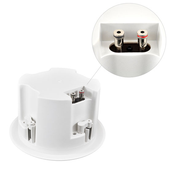 Pyle-Home PDPC52 5 1/4'' In-Ceiling 2-Way Flush Mount Enclosure Speaker System Thumbnail 3