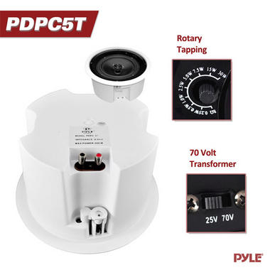 "Pyle-Home PDPC5T Pyle 5.25"" Transformer Ceiling Speaker Thumbnail 5"