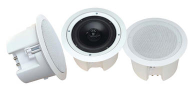 Pyle-Home PDPC62 6 1/2'' In-Ceiling 2-Way Flush Mount Enclosure Speaker System Thumbnail 1