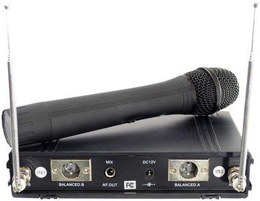 Pyle Dual Twin VHF DJ Party Karaoke Wireless Handheld Headset Microphone System Thumbnail 3